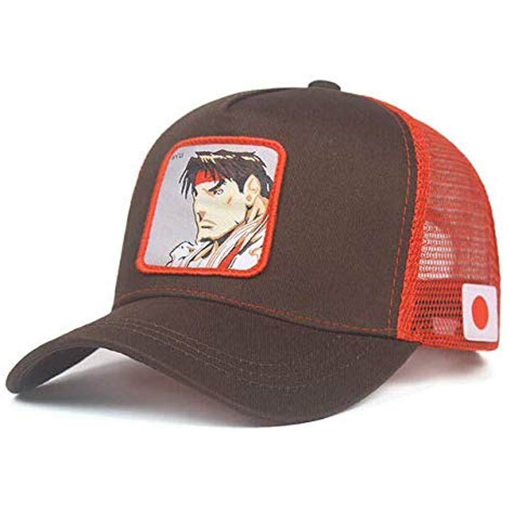 newfashion Gorra Visera Curva Trucker Street Fighter Ryu Marron y ...