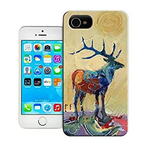 TYH - Unique Phone Case Deer Original Painting Hard Cover for iPhone 4/4s cases-buythecase ending phone case