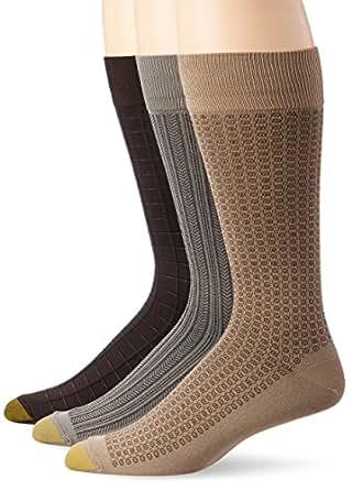 Gold Toe Men's Microfiber Fashion Socks (3 Pack), Winter Khaki/sahara/brown, 13-15 [Shoes size 12-16]