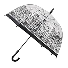 British Architecture Umbrella Transparent Windproof Travel Romantic Clear Rain Umbrella