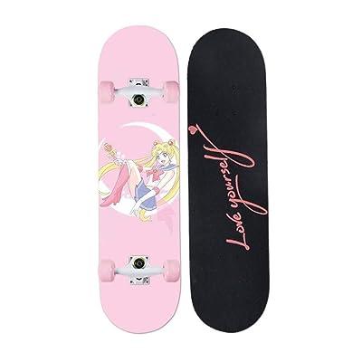 Aniseed Skateboards Cruiser Longboard Deck Skateboard Complete 31 Inch Moon Girl : Sports & Outdoors