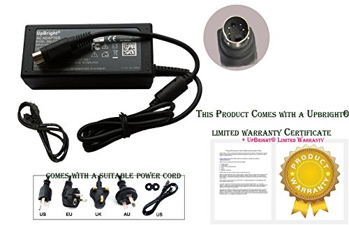 UpBright NEW 4-Pin DIN Global AC/DC Adapter For Seagate 9W2074-500 ST3160024ARK ST3160024A-RK 9W2074500 External Hard Disk Drive HDD HD 5V 12V 1.5A - 2A Power Supply Cord Cable Charger 4 Prong PSU by UPBRIGHT (Image #4)