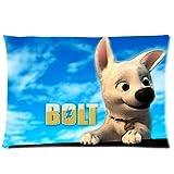 Classic Cartoon Movie Bolt Disney Custom Zippered Pillow Cases 20x30 (Two Sides)