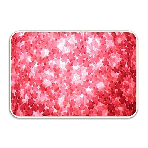 Applique Texture Red Background Garden Welcome Doormat Decorative Home Decor Door Mats Indoor Kitchen Rugs Non Slip Bathroom Carpets Water Absorbent Bath Rug from DIY Corma