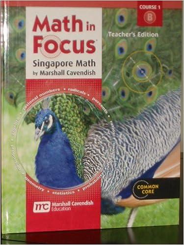 Amazon com: Math in Focus: Singapore Math Grade 6: Teacher