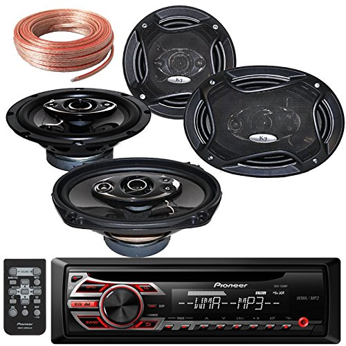Package Bundle - Pioneer DEH-150MP Single DIN MP3 Car Stereo With Pairs of K65.4 6.5-Inchs 6-1/2