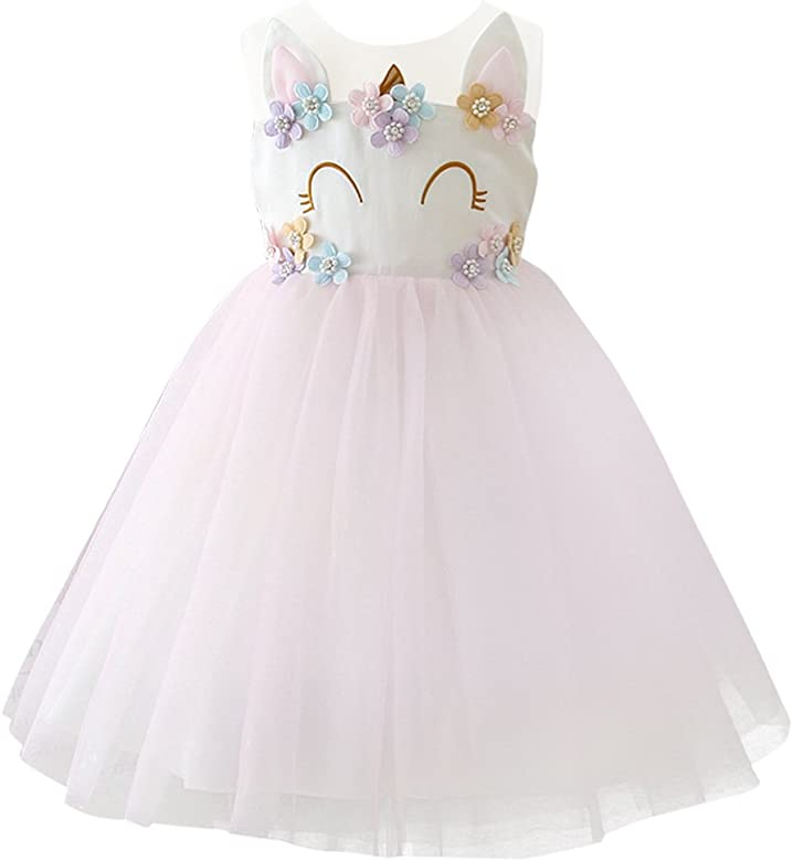 OBEEII Niña Princesa Bebé Niña Vestido Unicornio Cumpleaños ...
