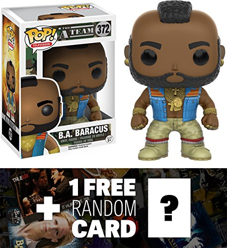B.A. Baracus: Funko POP! x The A-Team Vinyl Figure + 1 FREE American TV Themed Trading Card Bundle (064266)