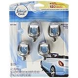 Febreze Car Vent-Clip Air Fresheners, Linen & Sky, 0.26 Fl. Oz. (Pack of 4)