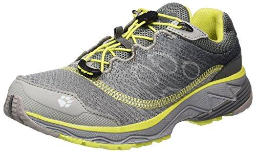 Jack Wolfskin Zenon Track Low W, Zapatillas de Running para Asfalto para Mujer Gris (Alloy)