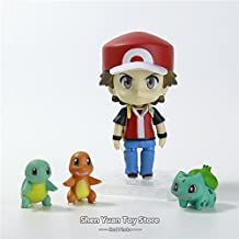 Figure Toys Nendoroid Ash Ketchum Zenigame Charmander Bulbasaur Anime Collectible Pokemon Action Figure by Figure Toys