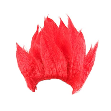 TUANMEIFADONGJI Peluca de llama de Anime Dragon Ball Son Goku Cosplay Peluca Dragonball ZGolden Hair Black