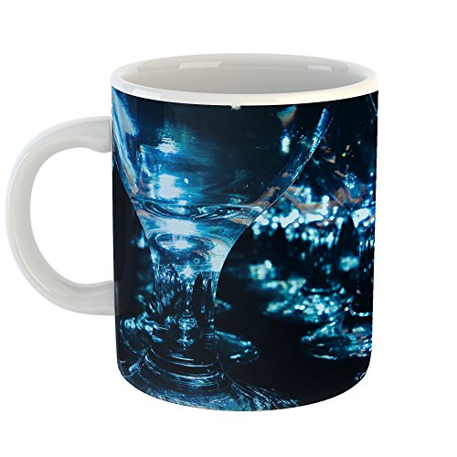 Dark Blue Water Goblet - Westlake Art - Glass Photography - 11oz Coffee Cup Mug - Modern Picture Photography Artwork Home Office Birthday Gift - 11 Ounce (C013-05CF6)