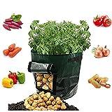 Potato Grow Bags,2 Pcs Garden Vegetables Planter Bags Cultivation with Flap and Handles,Potato Pots for Vegetables, Fruit, Carrot, Tomato, Onion,7 Gallon
