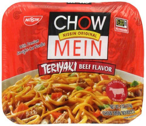 Nissin Chow Mein Q&E Teri Beef, 4-Ounce Units (Pack of 8)