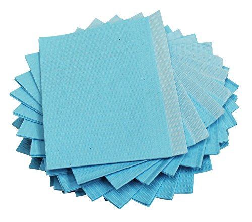 Adenna Dental Bibs/Lap Cloths, Blue (Box of 500)