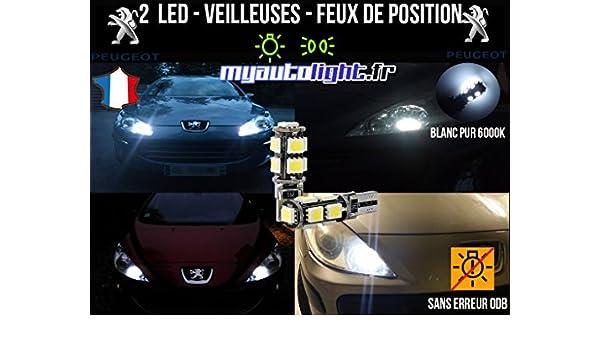 Bombillas LED para luces de posición, casquillo W5W, color blanco xenón, para Peugeot 307 SW: Amazon.es: Coche y moto