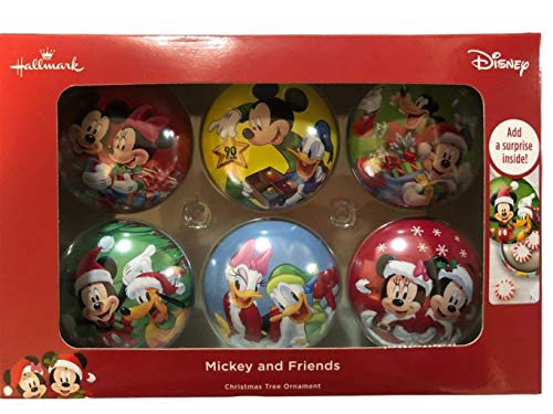 Christmas Ornaments Mickey Minnie and Friends Ball 6 Piece Hallmark Set