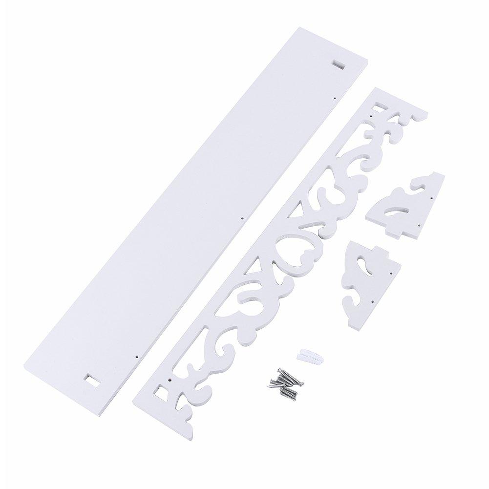 CutOut Design Shelves Small Yosoo White Wooden Chic Filigree Style Decorative Floating Wall Shelf