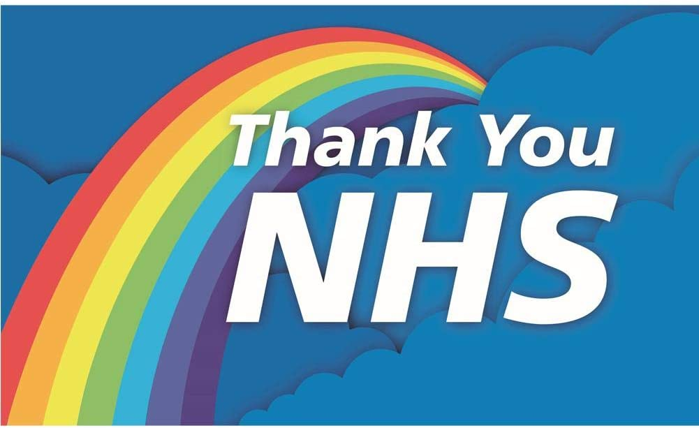 Lifes A Breeze Thank You NHS Flag 5FT X 3FT Comes With Two Eyelets
