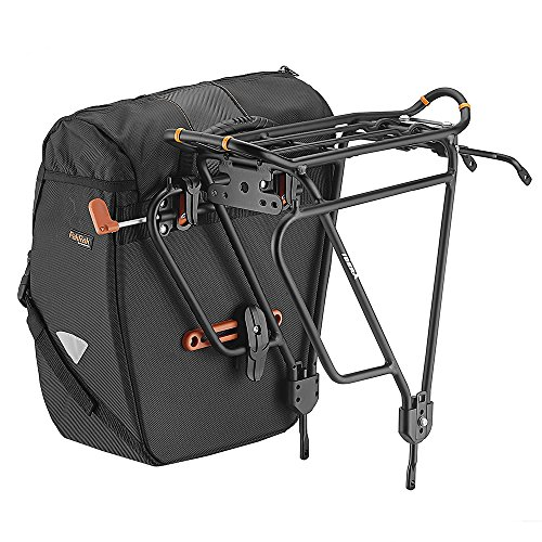 Ibera Bicycle Bag PakRak Clip-On Quick-Release All Weather Bike Panniers (Pair), Includes Rain Cover by Ibera (Image #3)