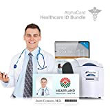 Healthcare ID Card Printer System for Hospitals, Retirement Homes, and more : Everything you need for your organization: AlphaCard printer, Healthcare ID design software, ID Supplies
