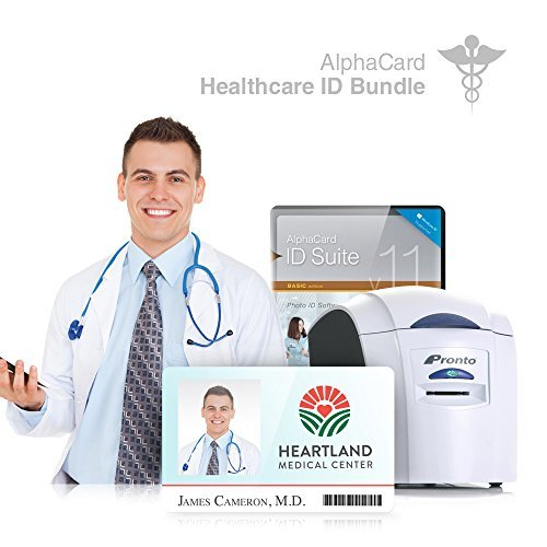 Healthcare ID Card Printer System for Hospitals, Retirement Homes, and more : Everything you need for your organization: AlphaCard printer, Healthcare ID design software, ID Supplies by AlphaCard