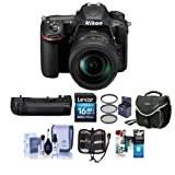 Nikon D500 DSLR with AF-S DX NIKKOR 16-80mm f/2.8-4E ED VR Lens - Bundle with MB-D17 Multi Power Battery Pack, 16GB SDHC Card, Camera Case, Cleaning Kit, 72mm Filter Kit, Software Pack, and More