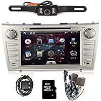 OUKURear Camera Included!!!For TOYOTA Camry(support year 2007 2008 2009 2010 2011) 8 inch Indash CAR DVD Player GPS Navigation Navi iPod Bluetooth HD Touchscreen Radio RDS FM+Free 8G GPS Map Card+Free US Map+Free Backup Rearview Parking LED Camera