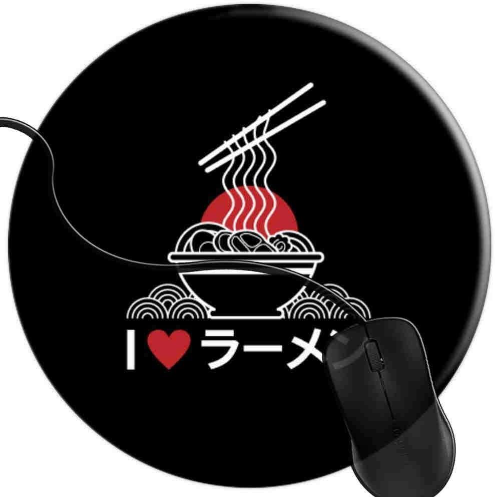 QCFW Alfombrilla de Ratón Amo Ramen Japon Alfombrilla de Ratón Ordenador Gaming Superficie Suave 2T3124
