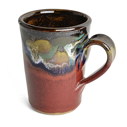 Larrabee Ceramics Coffee Mug, Red/Multi (Red Pottery Mugs)