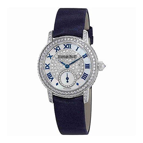 Womens Manual Winding Watch - Audemars Piguet Jules Audemars Diamond Manual Winding Ladies Watch 77229BC.ZZ.A025MR.01