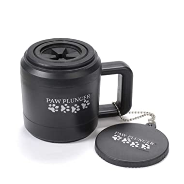Paw Plunger for Dogs - Portable Dirty Paw Washer for Dogs – Ideal for Any Dog – Cleaner Pet Paws to Save Floors/Furniture/Carpet/Vehicle from Muddy Paw Prints