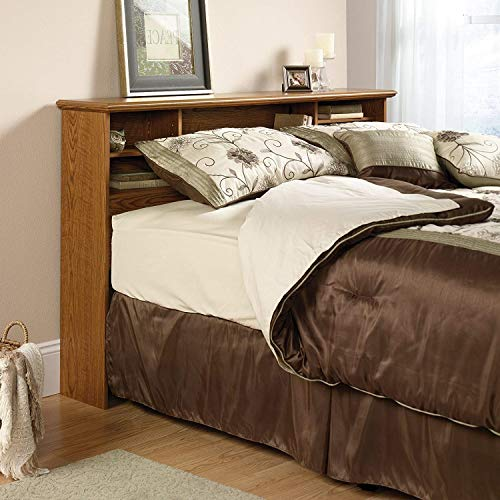 Bookcase Headboard with Storage Compartment, Full, and Queen Size Beds Storage Headboard, Queen Size Bed Bookshelf Headboard, Wood Oak Head Board Shelf for Bedroom with Sturdy & Functional Design