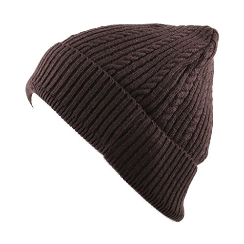 THE HAT DEPOT Unisex Light Weight Chunky Cable Classic Knit Beanie Hat - Hat Knit Cable Chunky