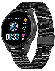 Smartwatch Mujer Hombre, GOKOO Impermeable Reloj Inteligente Monitores de Actividad Impermeable IP67 con Monitor de Sueño Pulsómetros Podómetro Contador de Caloría Compatible con iOS Android