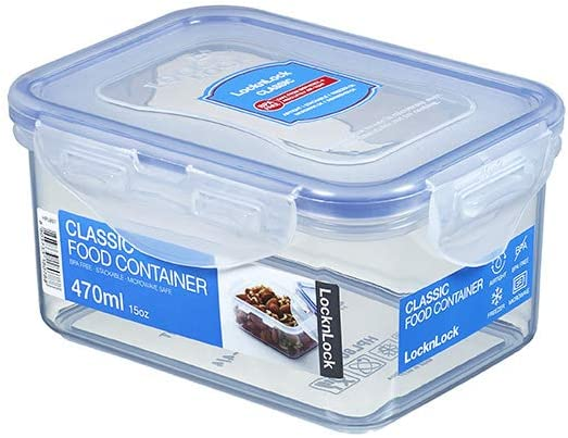 LOCK & LOCK Rectangular Water Tight Food Container (15 oz)