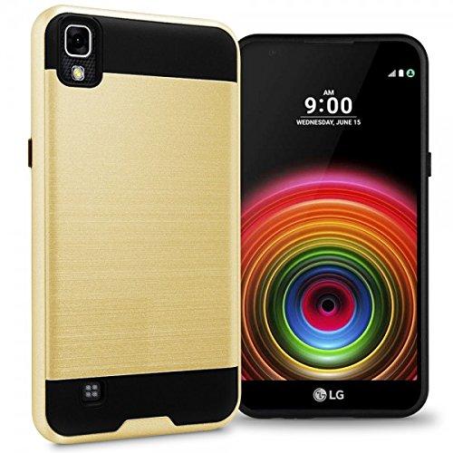 sale retailer 6eaad 4b67a Amazon.com: LG X Power Case, LG K210 Case, NEM Brushed Impact ...