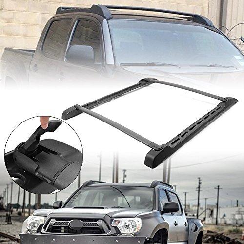 Newsmarts 1 Set Cross Bar Roof Rack Crossbars Roof Luggage Racks Maximum 125 lbs Capacity Load for Toyota Tacoma Double Cab 2005-2018