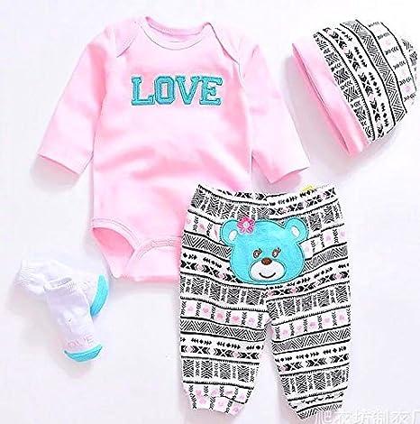 Amazon.com: NPK Muñecas renacidas ropa de bebé rosa trajes ...