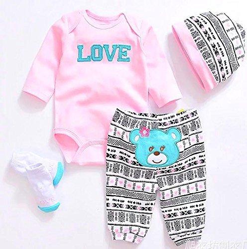[해외]Reborn Baby Dolls Clothes Pink Outfits for 20- 22 Reborn Doll Girl Baby Clothing Baby Sets / Reborn Baby Dolls Clothes Pink Outfits for 20- 22 Reborn Doll Girl Baby Clothing Baby Sets