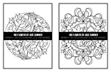 100 Flowers: An Adult Coloring Book with