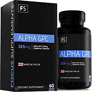 Alfa GPC - 325 mg cápsulas vegetales - Creación en los USA