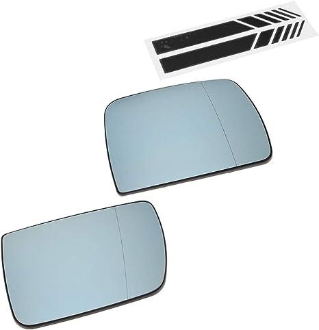 Sinistro Solo Vetro con Biadesivo Blu Asferico Specchio Retrovisore
