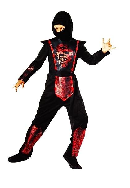 Amazon.com: Boys Light Up Dragon Ninja Costume Size Med 8/10 ...