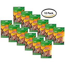 PACK OF 12 - Wild Harvest Carrot Crunchies for Small Animals, 2 oz