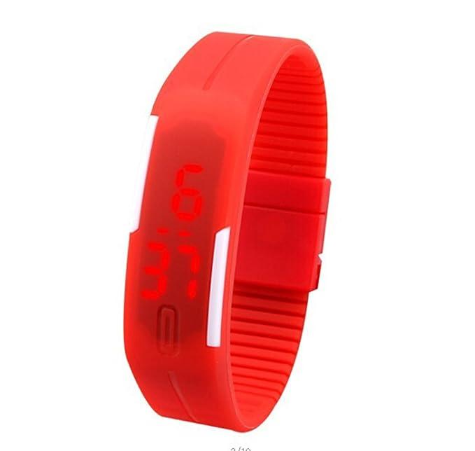 CursOnline® - Reloj de pulsera digital LED Summer Sport Touch, amplia variedad de colores