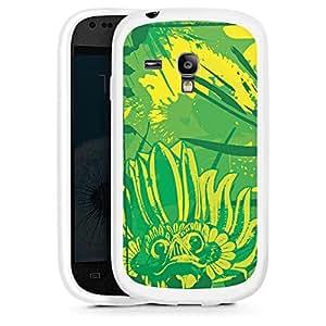Silicona Carcasa blanco Funda para Samsung Galaxy S3 Mini - Green Dream