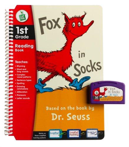 Dr. Seuss Fox in Socks 1st Grade LeapPad Book & Cartridge
