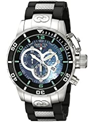 Invicta Mens 0477 Corduba Swiss Chronograph Black Polyurethane and Stainless Steel Watch